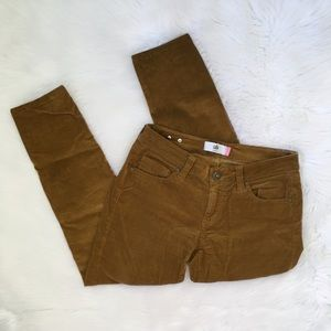 CAbi Burt Orange Corduroy Skinny Pants